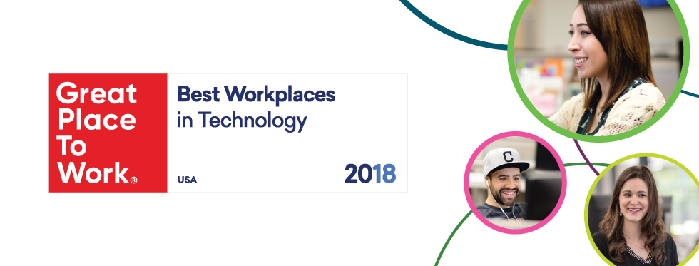 """We made Fortune's '40 Best Workplaces in Tech"""" list, again!"""
